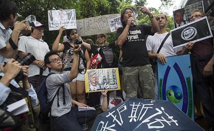 Демонстрации в поддержку Эдварда Сноудена в Гонконге. Фото EPA/ИТАР-ТАСС