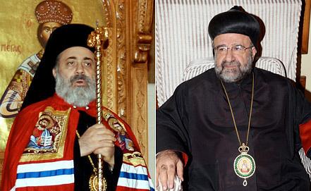 Митрополит Павел Язиджи и митрополит Юханна Ибрагим. Фото ЕРА/ИТАР-ТАСС