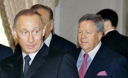 Владимир Путин и Роберт Крафт Фото ИТАР-ТАСС