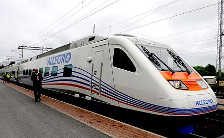 Скоростной поезд Санкт-Петербург - Хельсинки. Фото EPA/ИТАР-ТАСС