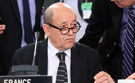 Министр обороны Франции Жан-Ив Ле Дриан. Фото EPA/ ИТАР-ТАСС