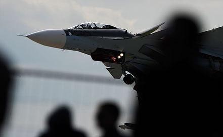Истребитель Су-30 СМ на МАКС-2013. Фото ИТАР-ТАСС/ Сергей Бобылев