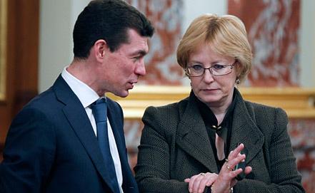 Максим Топилин и Вероника Скворцова. Фото ИТАР-ТАСС/ Дмитрий Астахов