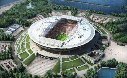 "Макет стадиона ""Зенит-Арена"" в Санкт-Петербурге. Фото ИТАР-ТАСС"