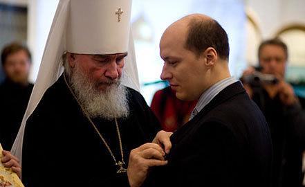 Митрополит Климент и Анатолий Данилов (справа). 2008.  Фото pravmir.ru