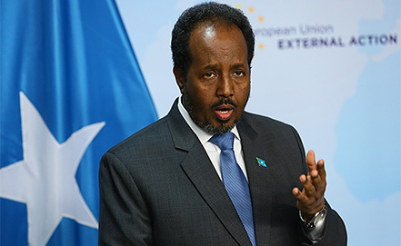 Президент Сомали Хасан Шейх Мохамуд. Фото EPA/JULIEN WARNAND