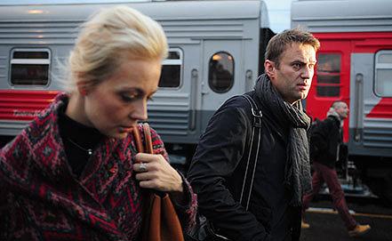Алексей Навальный с супругой Юлией прибыли в Киров. Фото ИТАР-ТАСС/ Зураб Джавахадзе