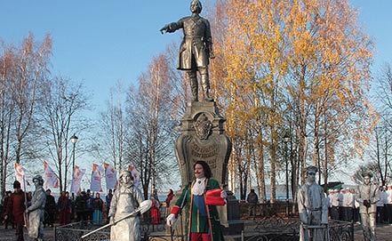Этап эстафеты Олимпийского огня в Петрозаводске. Фото ИТАР-ТАСС/ / Владимир Ларионов