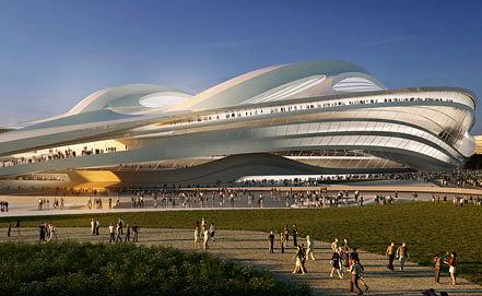 Эскиз нового Олимпийского стадиона в Токио. Фото AP/Japan Sport Council