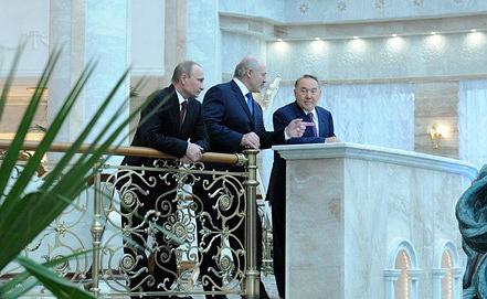 Владимир Путин, Александр Лукашенко и Нурсултан Назарбаев. Фото kremlin.ru