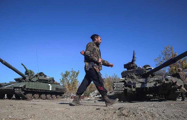 Украинские военные в Дебальцево Донецкой области