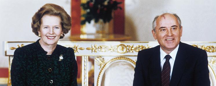 Маргарет Тэтчер и Михаил Горбачев