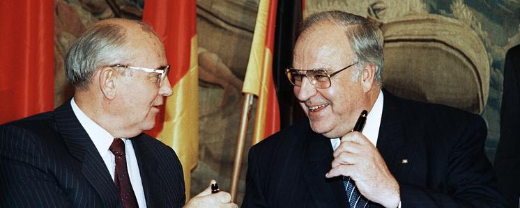 Михаи Горбачев и Гельмут Коль, 1990