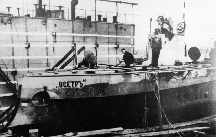 """Подводная лодка """"Осётр"""", достройка в Санкт-Петербурге"""