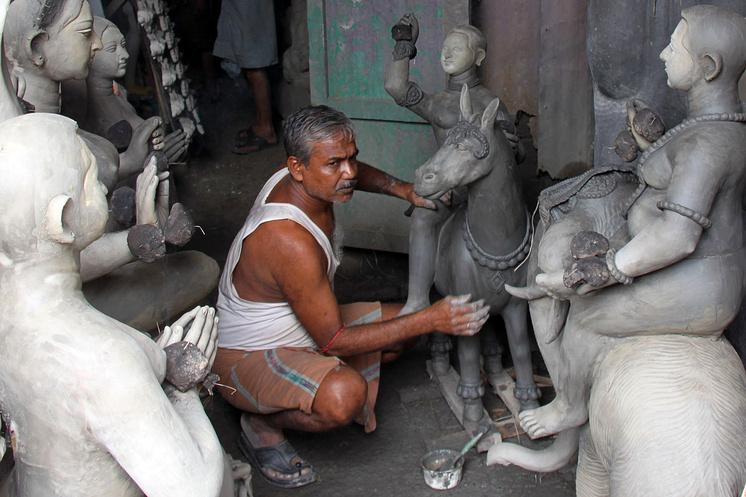 Скульптор в Калькутте